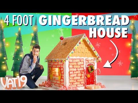 DIY Giant Gingerbread House Vs. Kids