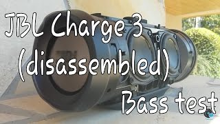 jbl charge 3 bass test disassembled