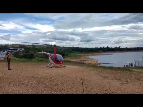 Queda de Helicóptero - Crash - Robinson R44 - Capitólio MG - Rio Turvo