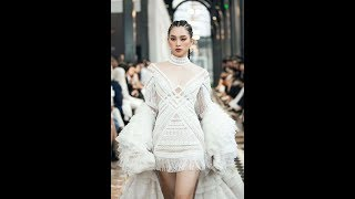 Miss VN 2018 TIEU VY  in LE THANH HOA x FASHION VOYAGE Fall-Winter 2019