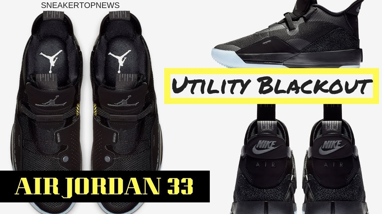 "b1ec03614ef9eb The Air Jordan 33 ""Blackout"" Releases On November 29th - YouTube"