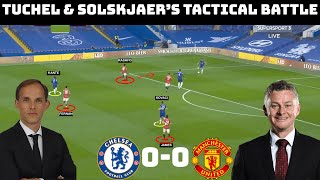 How Ole & Tuchel Set up |  Tactical Analysis: Chelsea 0-0 Manchester United |