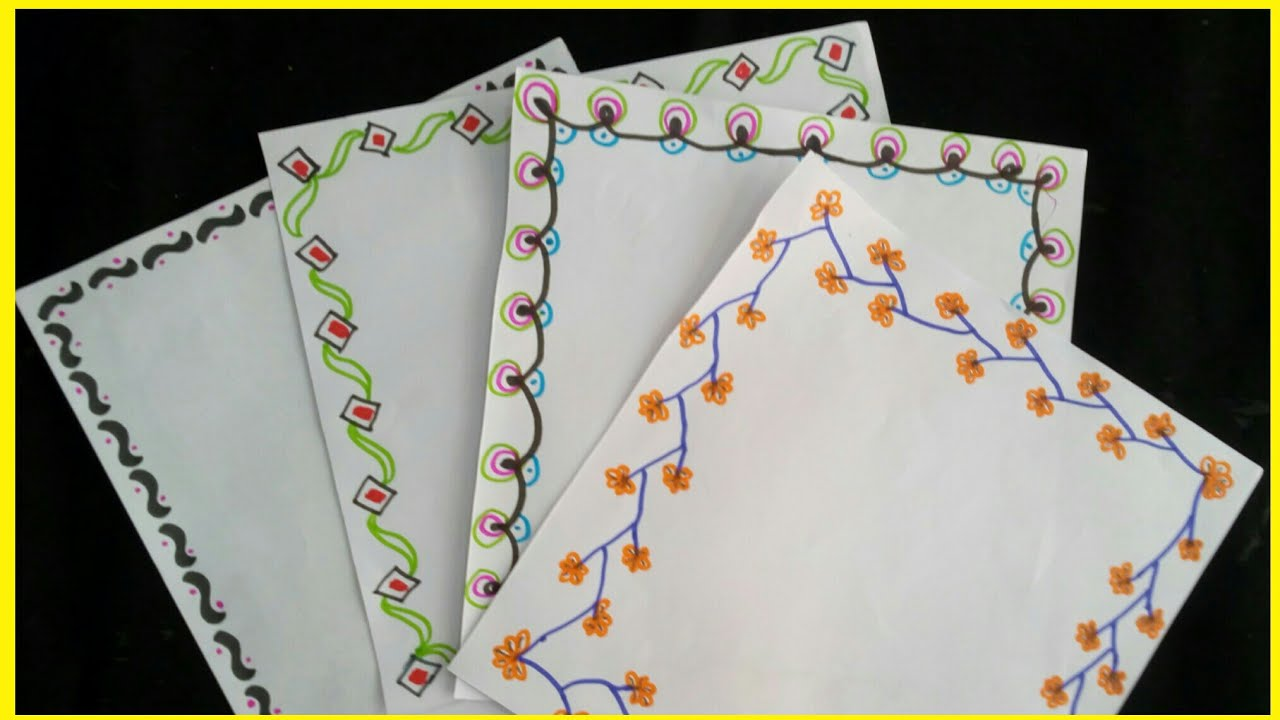 how to makedraw borders of project files 4 creative border drawings ideas for project frames