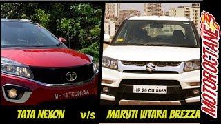 Tata Nexon vs Maruti Vitara Brezza Comparison हिन्दी में