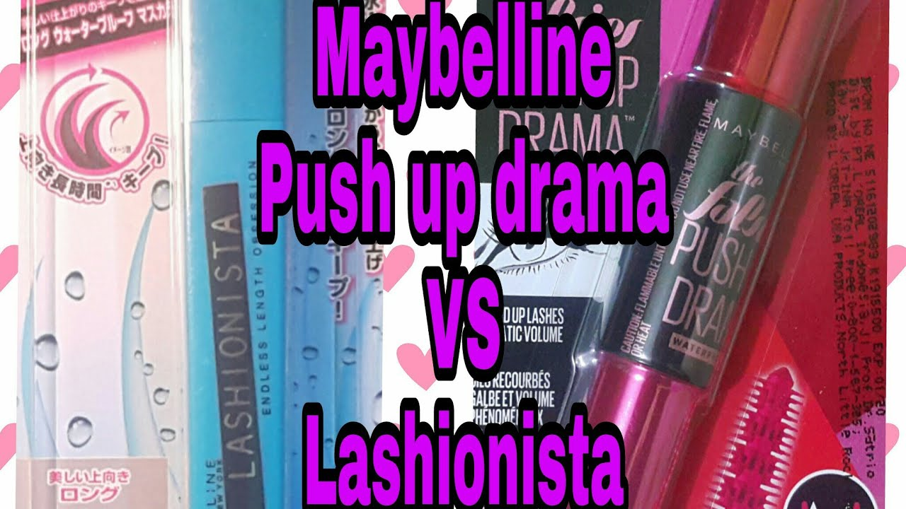 3b88db4738f Maybelline Push up drama mascara VS Maybelline Lashionista mascara (  unboxing )