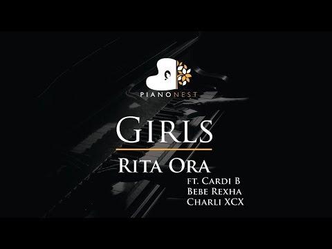 Rita Ora - Girls Ft. Cardi B Bebe Rexha  Charli XCX - Piano Karaoke / Sing Along / Cover With Lyrics