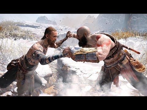 God Of War 4 2018 BOSS Fight No Damage Walkthrough Part 3 PS4 PRO
