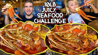 10LB JUICY SEAFOOD BOIL CHALLENGE in Clarksville, TN!!!#RainaisCrazy Seafood MUKBANG Eating Show