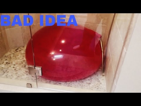 Giant Water Balloon floods the whole house!!!