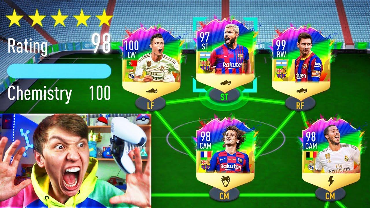 198 RATED FULL RAINBOW CARD FUT DRAFT!! (FIFA 21)