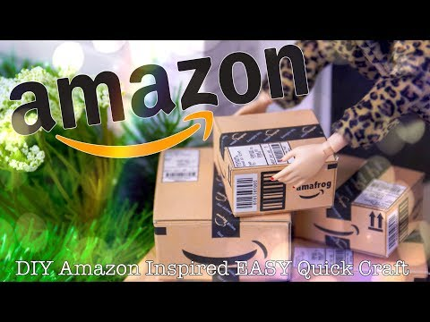 DIY - How to Make:Easy Amazon Boxes 1:6 Scale Miniature Quick Craft