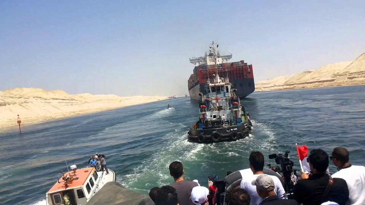 الله اكبر تحيا مصر حصريا : أول عبور للسفن فى قناة السويس الجديدة 25يوليو 2015 - YouTube