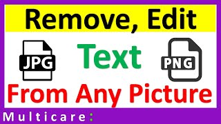 How to edit text of any image in paint