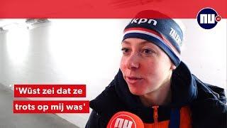 Esmee Visser na race getroost door 'grote voorbeeld' Wüst
