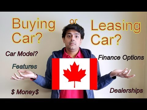 Buying Versus Leasing A Car In Canada