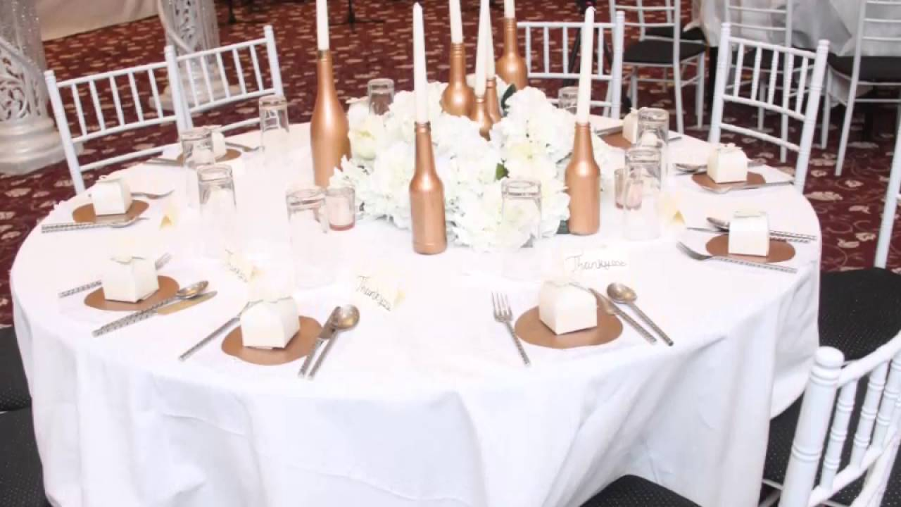 Rose gold and ivory wedding - YouTube
