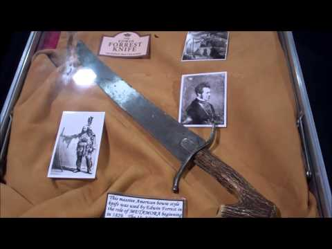 Knives of note Edwin Forest Metamora Bowie knife of the Stanley Chan collection
