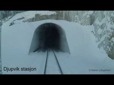Hyttåkning Ofotbanen 2018-03-12 - Cabride Ofoten line