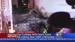 1 Killed When Car Hits Semi In Riverdale