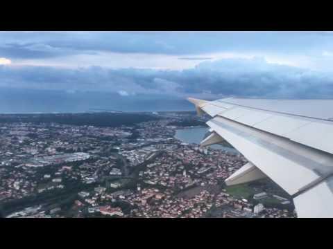 1080p60 A319 take off Biarritz BIQ to Paris ORY - Air France HOP!
