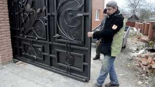 видео Кованые ворота откатные — недорого купить по выгодным ценам