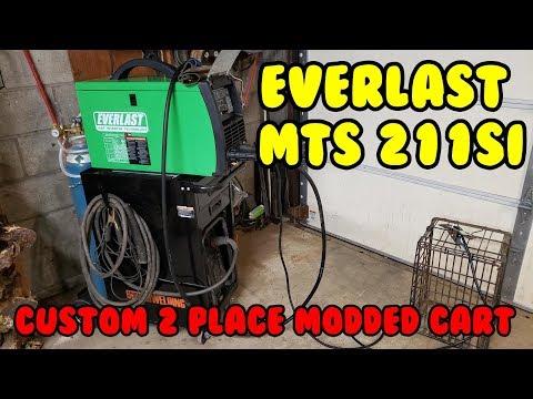Everlast Multi-Process Welder MTS 211si review PLUS DIY 2 place welding cabinet cart