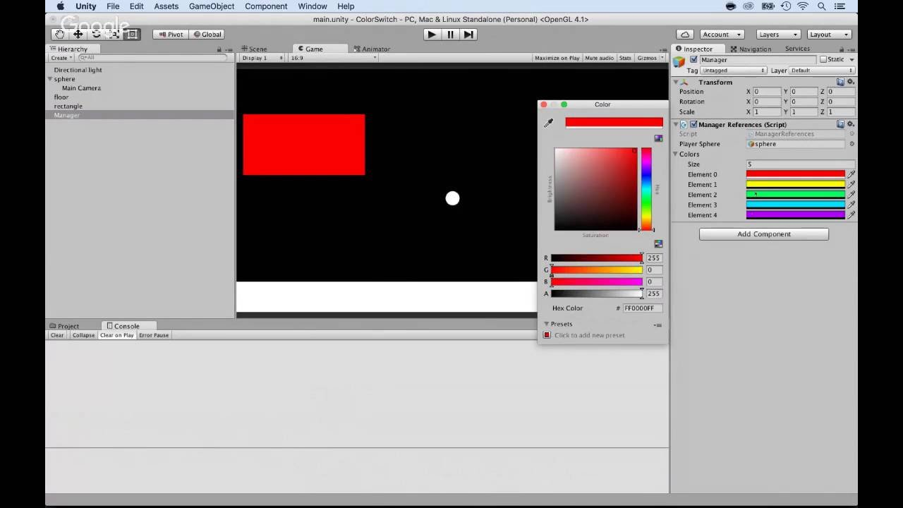 Cloning Color Switch game using Unity - part 3