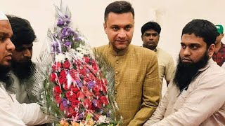akbaruddin-owaisi-met-with-members-of-jamat-e-ahle-hadees-hyderabad-at-fatima-owaisi-campus