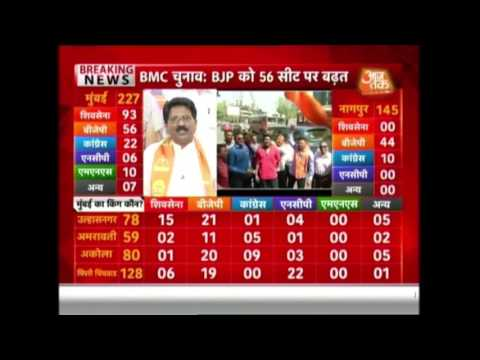 BMC Election Results 2017 Live Updates:  Shiv Sena All Set to Retain Power
