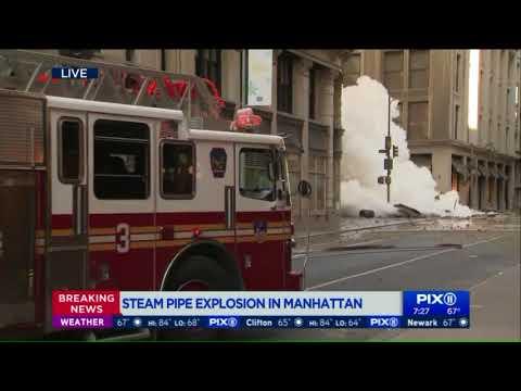 Steam pipe explodes in Manhattan