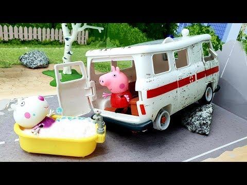 Мультики с игрушками Свинка Пеппа - Когда учитель заболел! Новые игрушечные видео для детей 2019