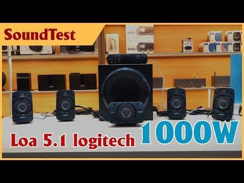 Nghe thử bộ loa 5.1 của logitech, công suất 1000W - quá đã   logitech Z906 Soundtest
