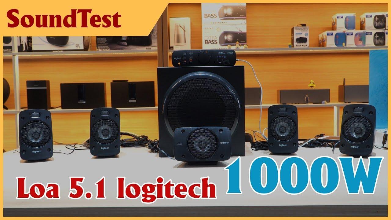 Nghe thử bộ loa 5.1 của logitech, công suất 1000W – quá đã | logitech Z906 Soundtest