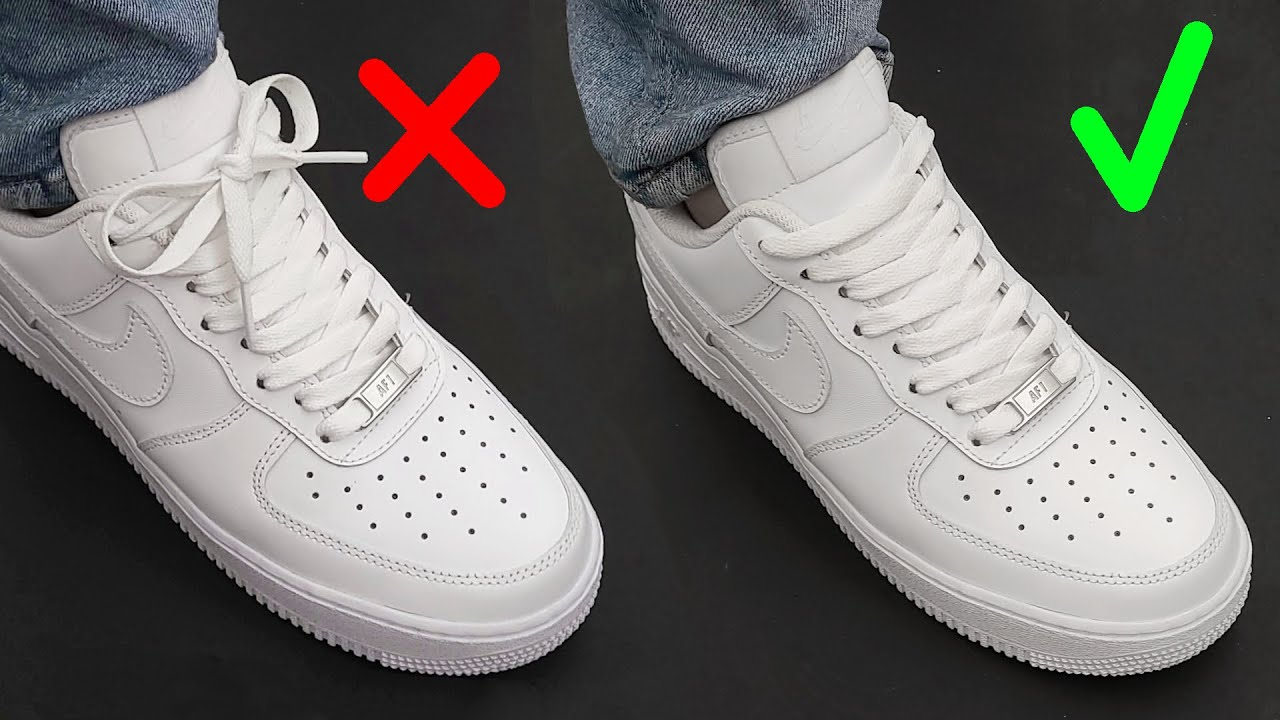 How To Hide Laces On shoes (Nike Air Force 1) / 2 WAYS