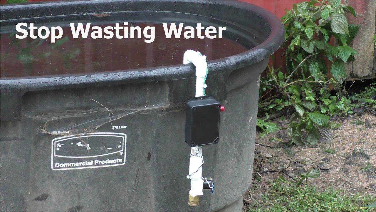 How To Diy Automatic Water Valve For Open Top Containers
