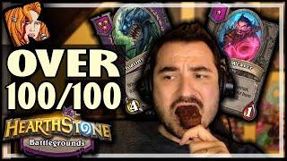 OVER 100/100 WATCHER AND WEAVER?! - Hearthstone Battlegrounds