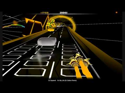 Dj Squared - It's My Life (DJ Gollum Remix) Audiosurf