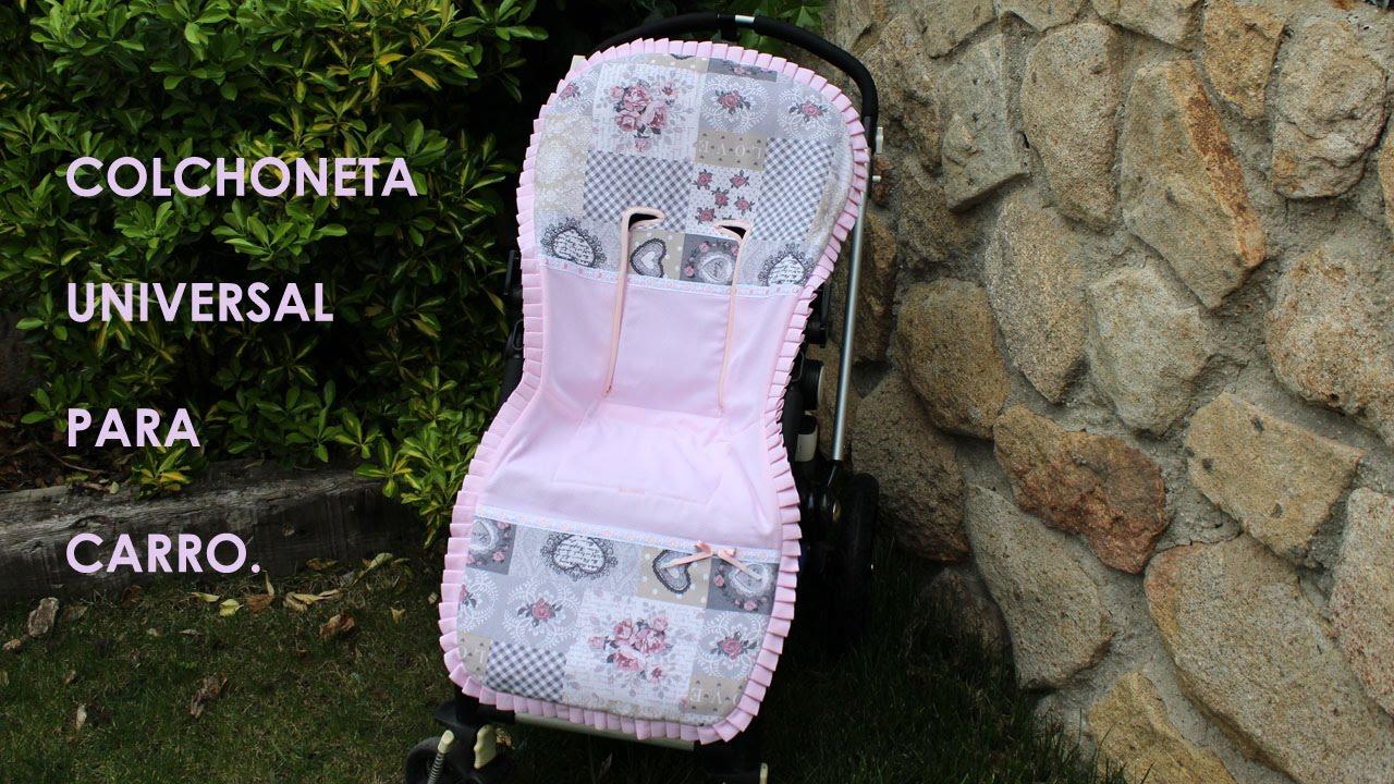 Colchoneta universal para carrito de beb  YouTube