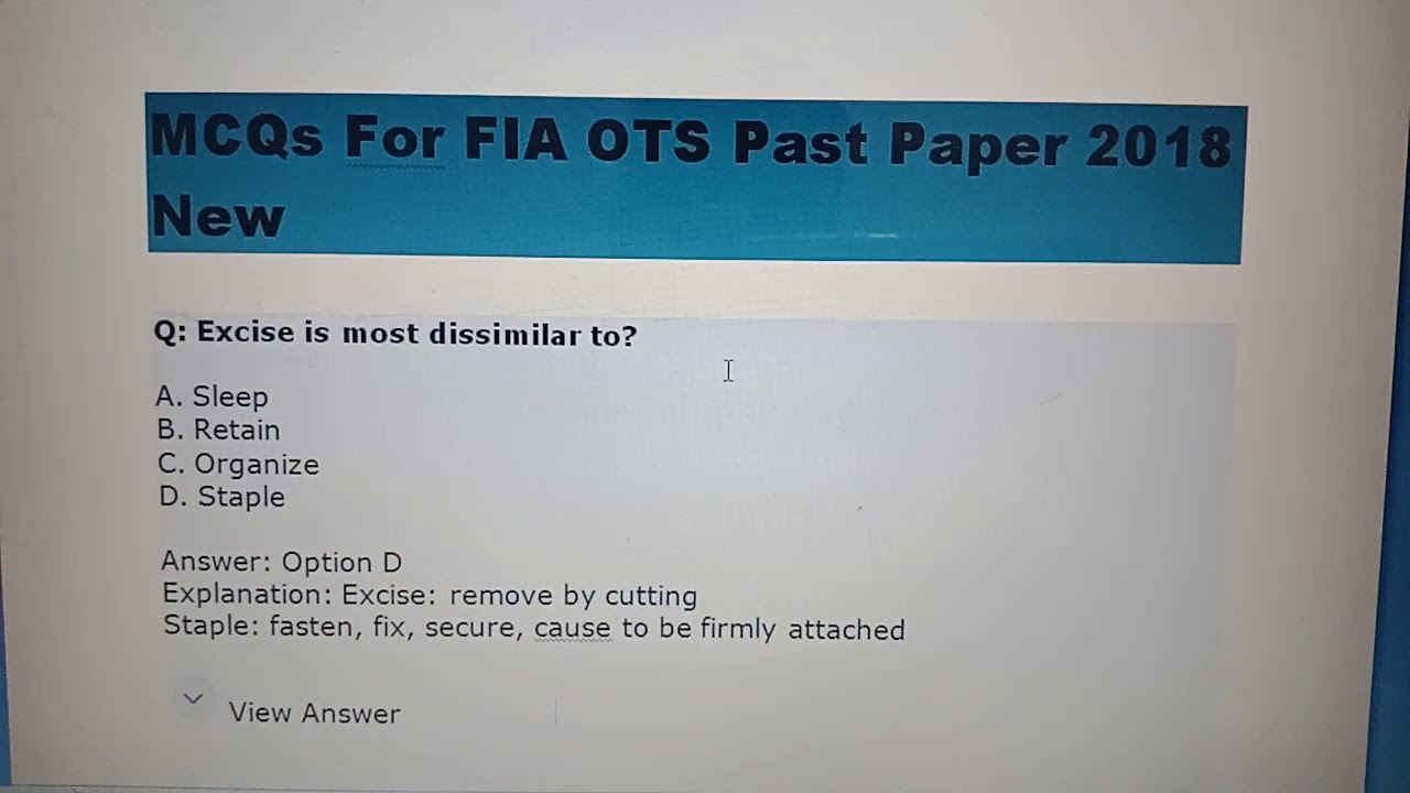 Ots Result Excise