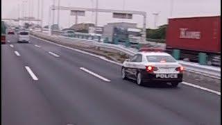 パトカーが ロケットダッシュする瞬間の映像【規格外の速さ】