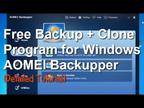 Free Backup Software AOMEI Backupper (full version)