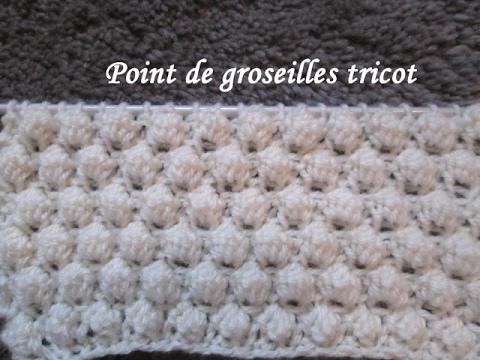 Tuto point de groseilles tricot stitch knitting punto tejido dos agujas youtube - Point de ble au tricot ...