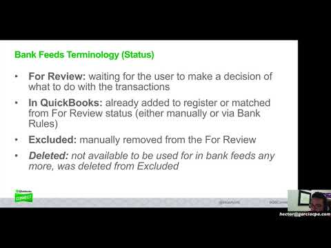 QuickBooks Online 2018 Tutorial: Mastering Bank Feeds (Online Banking)