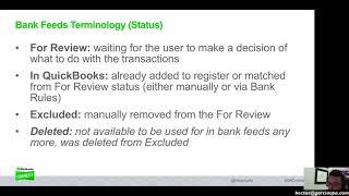 QuickBooks Online 2018 Tutorial: Mastering Bank Feeds (Online Banking)