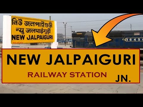 NJP, New Jalpaiguri Junction railway station, India in 4K Ultra HD