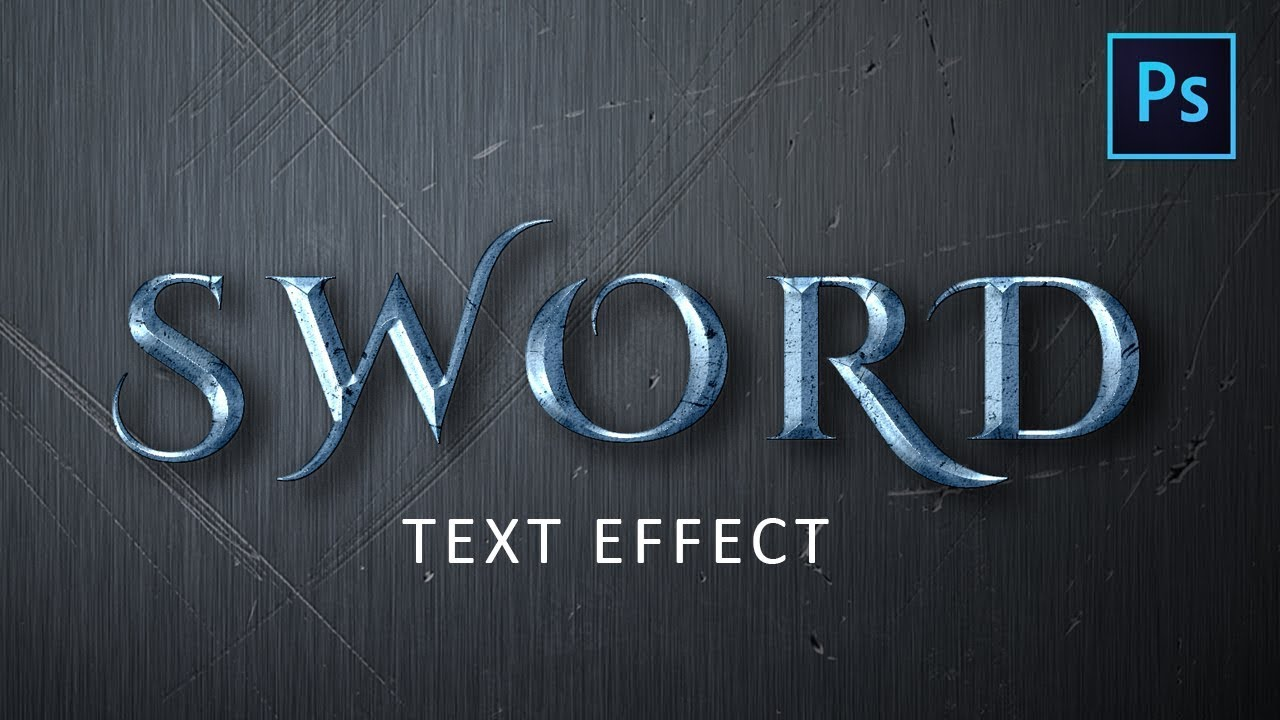 [Photoshop Tutorial] Create Sword Text Effect in Photoshop