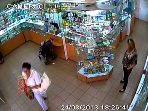Момент кражи зафиксировали камеры наблюдения