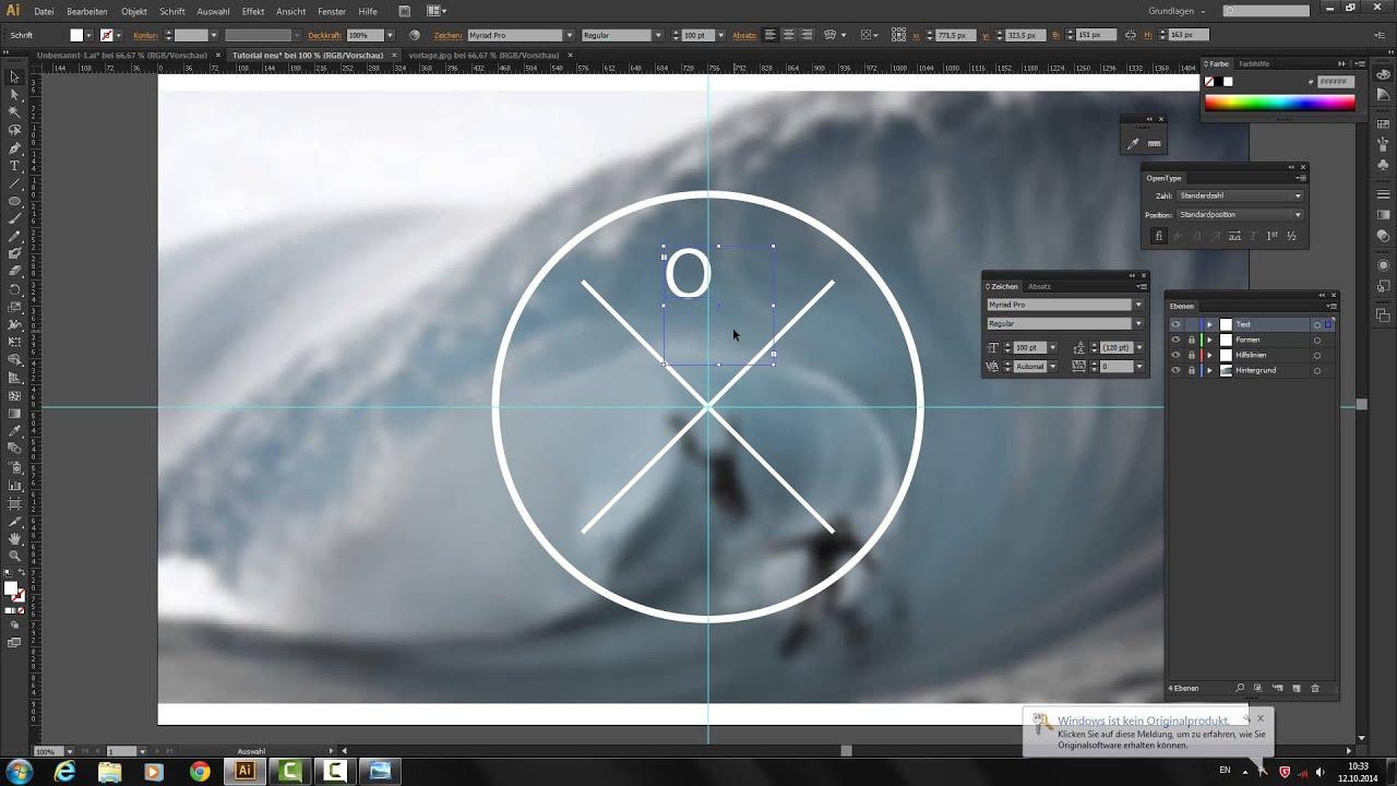 Adobe Illustrator - LOGO erstellen - YouTube