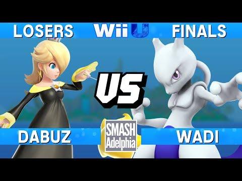 Smash 4 Wii U - Dabuz (Rosalina) vs WaDi (Mewtwo) - SMASHADELPHIA 2017 Losers Finals
