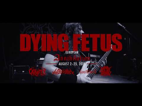 DYING FETUS European Tour 2018